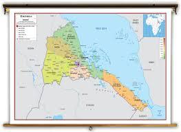 africa map eritrea eritrea political educational wall map from academia maps