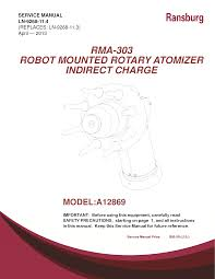 ransburg rma 570 robot mounted indirect service manuals