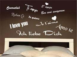 sprüche ich liebe dich wandtattoo ich liebe dich in 10 sprachen international schlafzimmer s
