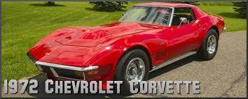 1972 chevrolet corvette factory paint colors