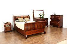 Full Size Sleigh Bed Antique Beds U0026 Bedroom Sets 1900 1950 Ebay