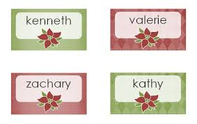 christmas dinner place cards avery christmas dinner place cards