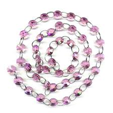 Glass Chain Chandelier Amazon Com 6ft Pink Crystal Chandelier Glass Bead Lamp Chain