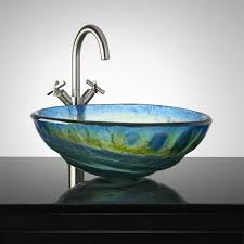 Glass Bathroom Sink Vanity Cosmo Glass Vessel Sink Bathroom