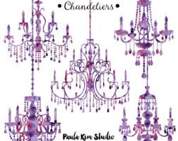 Free Chandelier Clip Art Purple Chandelier Etsy