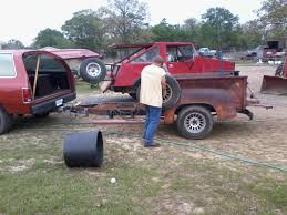 jeep trailer build new old texas project vehicle dodge ram ramcharger cummins