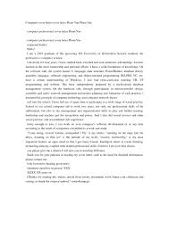 Cover Letter For Article Sample Cover Letter For Internship Computer Science Image