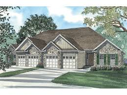 Duplex Floor Plans With 2 Car Garage Hellman Rustic Ranch Duplex Plan 055d 0384 House Plans And More