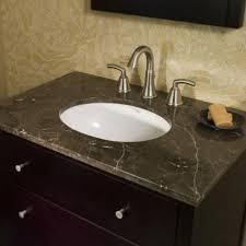 on the marble a undermount bathroom sink