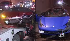 bugatti lamborghini ferrari mix lamborghini huracan and ferrari 458 douchebags crash into each