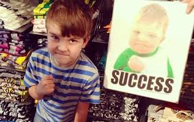 Baby With Fist Meme - boy from success kid meme is now 8 trying to get his dad a new