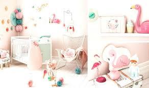 chambre bébé fille moderne chambre de bebe fille thame de chambre fille flamant decoration