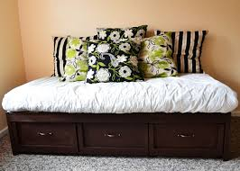Daybed With Drawers Ana White Build A Daybed With Storage Trundle Drawers Free And