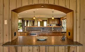 Kitchen Pass Through Design Mequon Rustic Kitchen Back Yard Remodel Mequon Kitchens