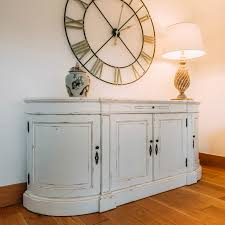aged french distressed white large sideboard furniture la maison