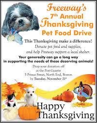 freeway s 7th annual thanksgiving pet food drive