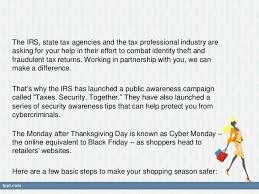 irs partners suggest tips for safe shopping