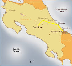 san jose costa rica on map maps and directions to viejo de talamanca limon rental