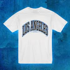 los angeles block lettering blue u2013 bow down clothing