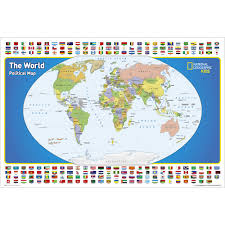 Political Map United States by The United States For Kids Wall Map Laminated National