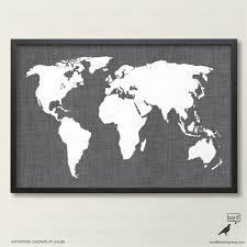 carte monde noir et blanc charbon de bois carte du monde en lin lin texture carte