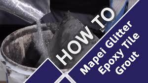 how to add sparkle to quartz floor tiles with mapei glitter epoxy