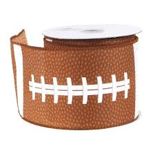 football ribbon polyester ribbon wired edge 2 1 2 inch 10 yards