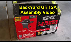 Backyard Grill 4 Burner Gas Grill how to put a grill together backyard grill grill 2a youtube