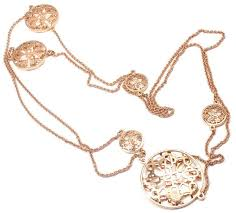 long rose gold necklace images Hermes chaine d 39 ancre passerelle rose gold long necklace at 1stdibs jpeg