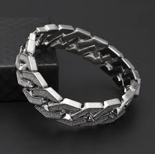 mens bracelet fashion images Buy 2018 simple design sand explosion cuban jpg