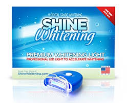 how to use teeth whitening gel with light amazon com shine whitening blue teeth whitening light