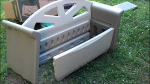 rubbermaid storage bench assembly youtube