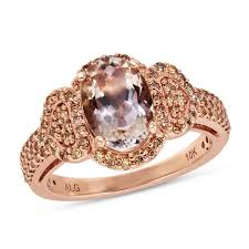 gold and morganite ring morganite collection 10k gold i1 diamond morganite ring 1