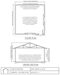 garage door sample garage section and plan bp door dimensions