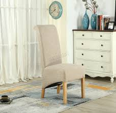 Cream Dining Chairs Dining Chairs Fabric High Back Seriena High Back Dining Chair In