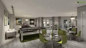 club house interior design rendering interior 3d rendering