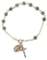 rosary bead bracelet womens or religous inspirational catholic