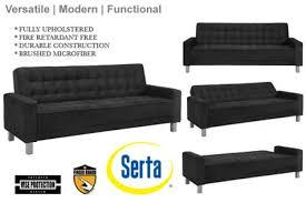 Convertible Sofa Bed Black Contemporary Sofa Bed Montrose Convertible Sofa Black