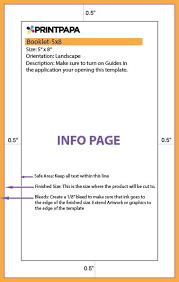 booklets templates find a printing template printpapa