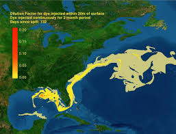 Map Of Ocean Currents Ocean Currents Likely To Carry Oil Along Atlantic Coast Ucar
