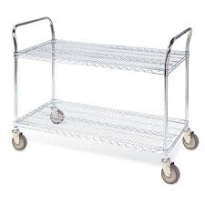Wire Shelf Cart Furniture Terrific Utility Cart With Wheels In Stylish Designs