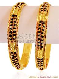 black gold bangle bracelet images 22kt gold bangle with black beads sonia 39 s fancy jewelry jpg