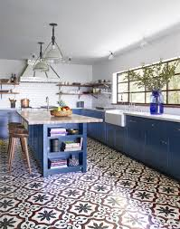 tiled kitchen floors ideas 25 designer blue kitchens blue walls decor ideas for kitchens