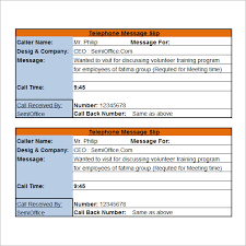 9 phone message templates free download for word excel pdf