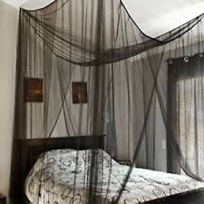 Black Poster Bed Black Mesh Canopy Gothic 4 Poster Bed Romantic Net Full Queen King