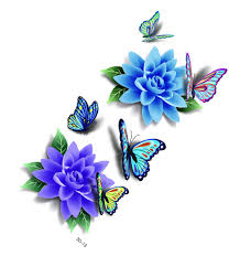 online buy wholesale blue butterfly tattoos from china blue
