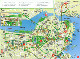 boston city map large map of boston massachusetts