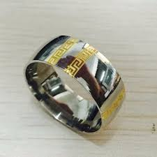 popular cheap gold rings for men buy cheap find more rings information about luxury brand large wide 10mm 316
