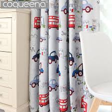 cartoon car blackout curtains for kids bedroom boys girls baby