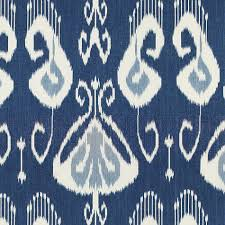 European Inspired Home Decor Toscana Ikat Blue Fabric By The Yard European Inspired Home